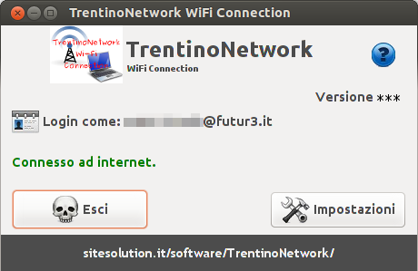 TrentinoNetwork WiFi Connection - screen
